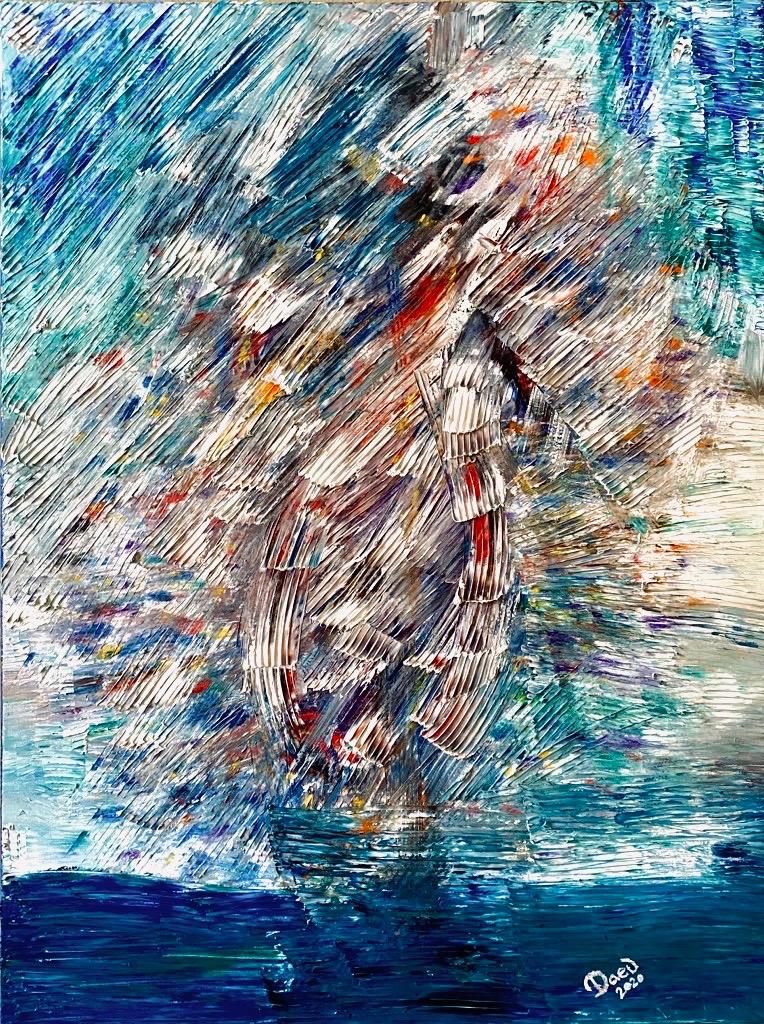 daeuArt - Sailboat in a storm