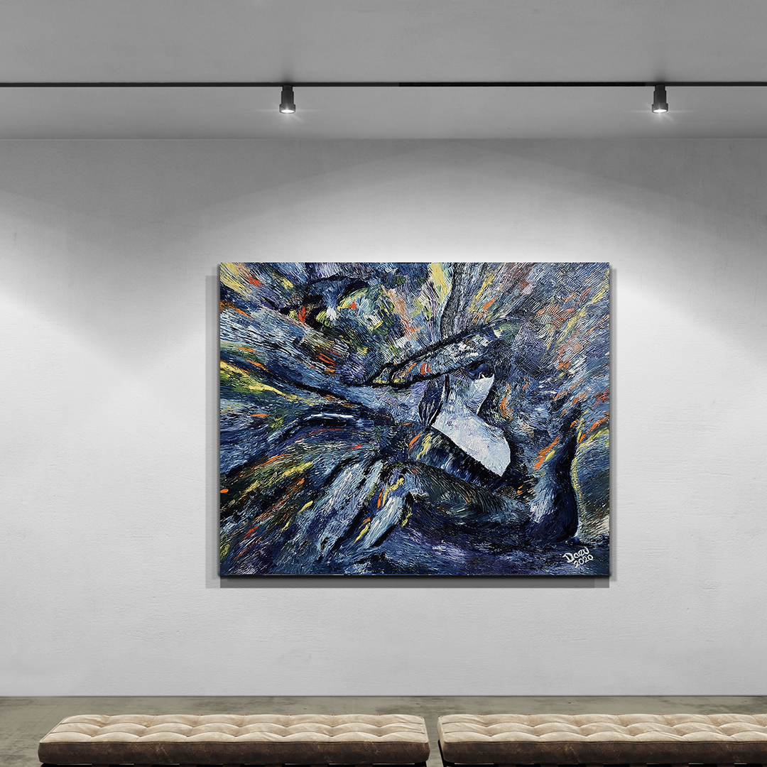 The Multipotentialite, an original oil painting by Daeu Angert in gallery